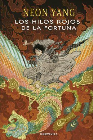 Cubierta de Los hilos rojos de la fortuna en la que se muestra a Mokoya sobre un naga con las alas desplegadas